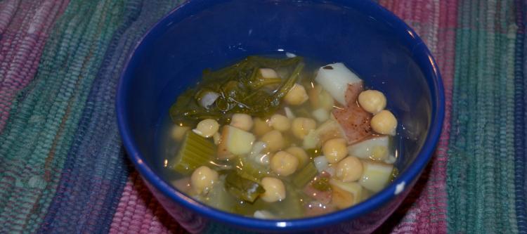 chickpea veggie soup